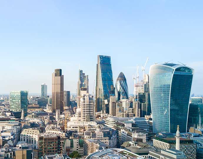 London skyline by day